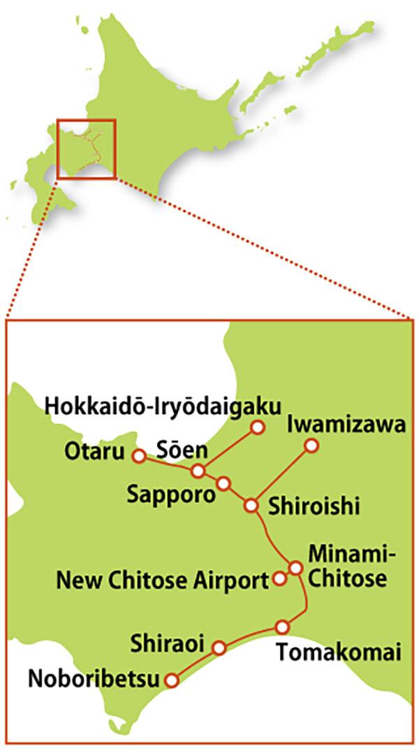 JR Pass ở Hokkaido - Sapporo ~ Noboribetsu Area Pass