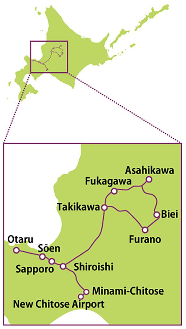 JR Pass ở Hokkaido - Sapporo ~ Furano Area Pass