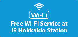 JR Hokkaido is providing free Wi-Fi service, available at 13 of its train stations.